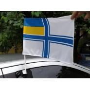 флаг ВМС Украины автомобильный на флагштоке