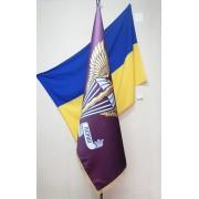 Прапор ДШВ 150х100см кабінетний сатен з бахромою