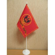 прапор морської піхоти на підставці