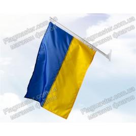 Флаг Украины на флагштоке