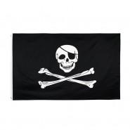 Пиратский флаг «Череп и кости» 90х150см