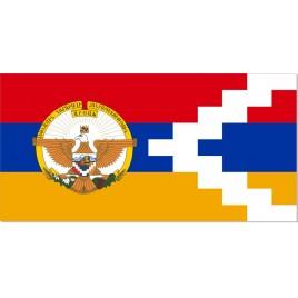 Флаг Нагорно-Карабахской Республикис гербом