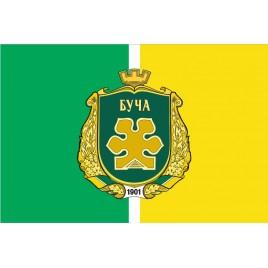 Прапор Бучи з гербом