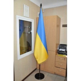 Флаг Украины 180х120 см кабинетный сатен купольный с бахромой