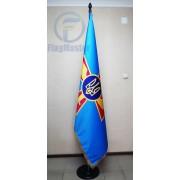 Прапор Повітряних сил ЗСУ 180х120 см сатен з бахромою в кабінет
