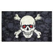 Пиратский флаг Череп c костями 90х150см