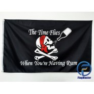Пиратский флаг The time flies when you're having rum 90х150см