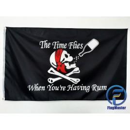 Пиратский флаг The time flies when you're having rum