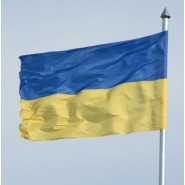 Флаг Украины нейлон на флагшток (по тросику)
