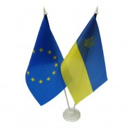 флажок Украина и Евросоюза