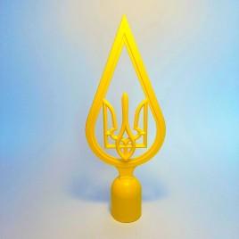 наконечник на флаг - капля желтая