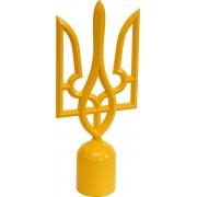 Наконечник на флаг - тризуб желтый граненный