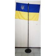 Подставка для флага черного цвета одноместная
