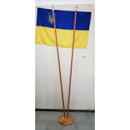 Подставка для флагов светлая двухместная