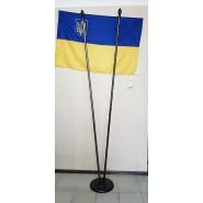 Подставка для флагов темная двухместная