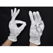 Перчатки белые тонкие хлопковые