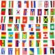 Гирлянда из тканевых флажков стран
