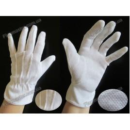 Перчатки официанта с прорезиновой точкой на ладони