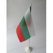 прапор Болгарії на підставці