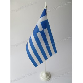 флаг Греции на подставке