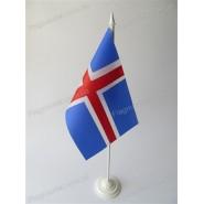прапор Ісландії на підставці
