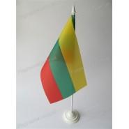 прапор Литви на підставці
