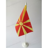 прапор Македонії на підставці