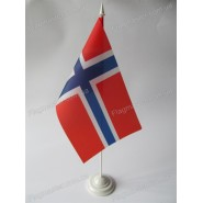 прапор Норвегії на підставці