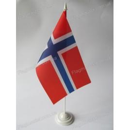 флаг Норвегии на подставке