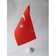 прапор Туреччини на підставці