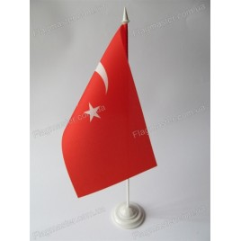 флаг Турции на подставке