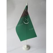 флаг Туркменистана на подставке