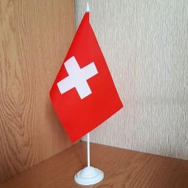 флаг Швейцарии на подставке