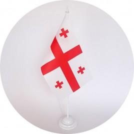 прапор Грузії на підставці
