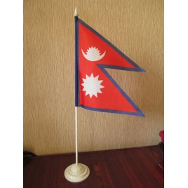 прапор Непалу на підставці