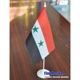 флаг Сирии на подставке