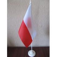 прапор Польщі на подставці