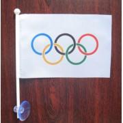 флаг олимпийских игр на присоске