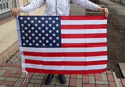 Флаг США среднего размера